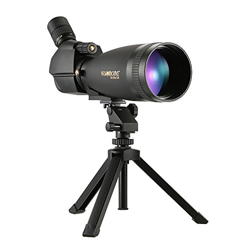 Lixada Visionking 30-90x100 単眼望遠鏡 スポットスコープ BaK4 防水 防曇 ポータブル 調整可能 三脚 キャリーケース付き トラベル バードウォッチング キャンプ用