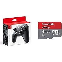 Nintendo Switch Proコントローラー + microSDXCカード(64GB) セット