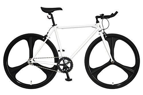 ANIMATO(アニマート) クロスバイク ピストバイク PHANTOM 1年保証 (ホワイト)