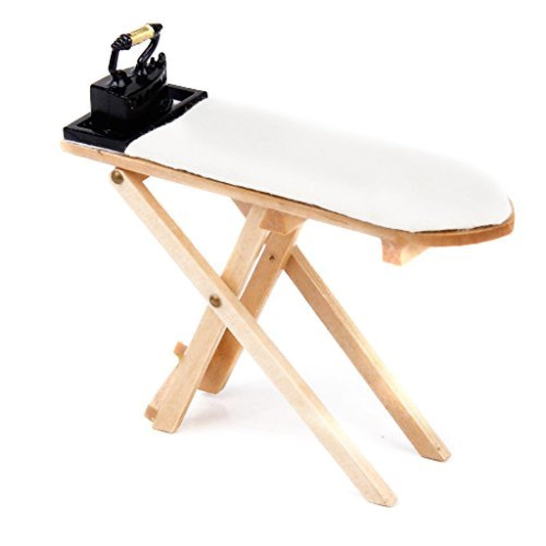 [ノーブランド品]木製メタルドールハウスSupplies Iron & Ironing Board A小さなセット木製カラー