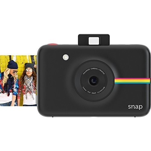【データも保存できる】ポラロイド Snap デジタルインスタントカメラ (ブラック) プリンタ内蔵 ZINK