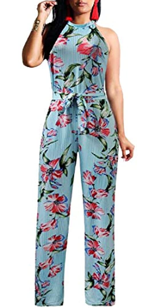 建築社会科申請者Keaac Womens Sexy Fashion Sleeveless Wide Leg Pants Cocktail Jumpsuit Romper