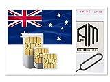 SIMカード オーストラリア 4G高速通信 28日間 大容量 30GB(+25GB) 音声通話無制限(日本へ通話無料) SMS/MMS無制限 プリペイド RoadMountain社製SIMピンセット付き 日本語マニュアル付き