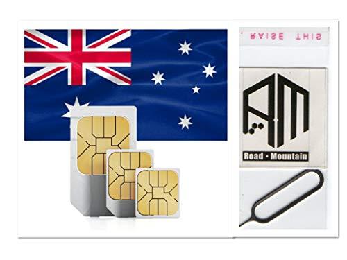 SIMカード オーストラリア Optus回線 $40 4G高速通信 28日間 大容量 45GB 音声通話無制限(日本へ通話無料) SMS/MMS無制限 プリペイド RoadMountain社製SIMピンセット付き 日本語マニュアル付き
