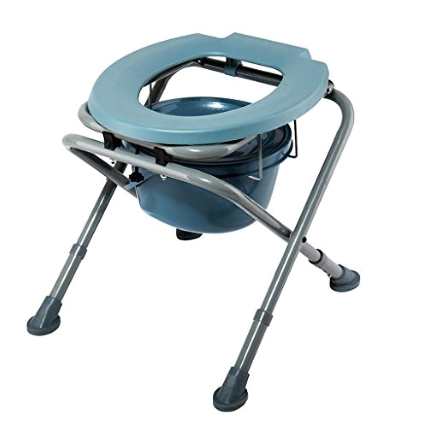 マイコンバナー遅らせる- 椅子バスチェア折りたたみ式高さ調整可能妊婦老人トイレチェア丈夫な防水 チェスト