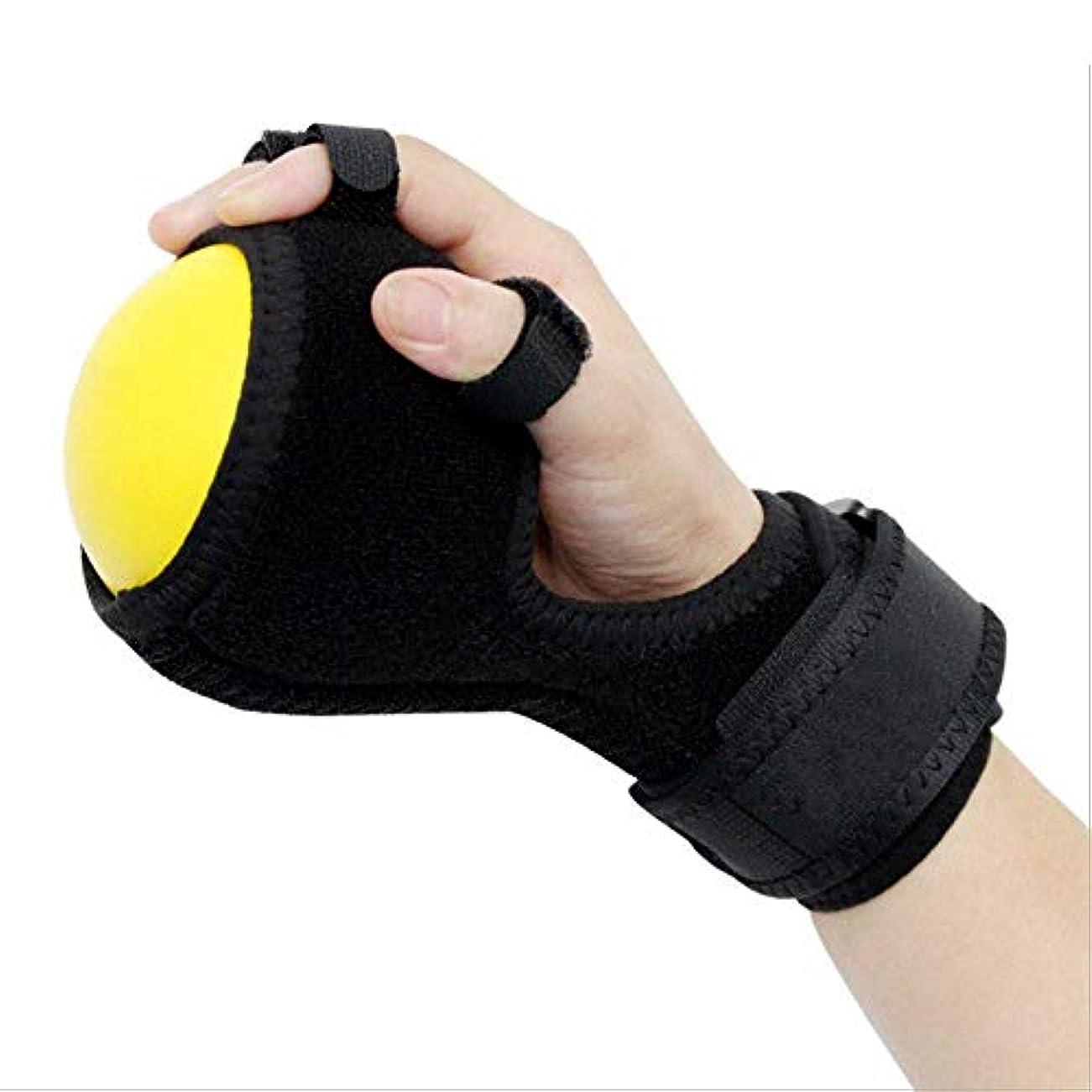 人道的直立小康指装具、指板訓練器具抗痙攣性ボールスプリントハンド機能障害指装具ハンドボールエクササイズ指片麻痺