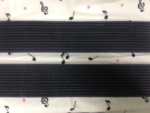 電子ピアノ防音防振マット(脚用) 1㎝(厚)×10㎝×50㎝スモールサイズ 2枚セット