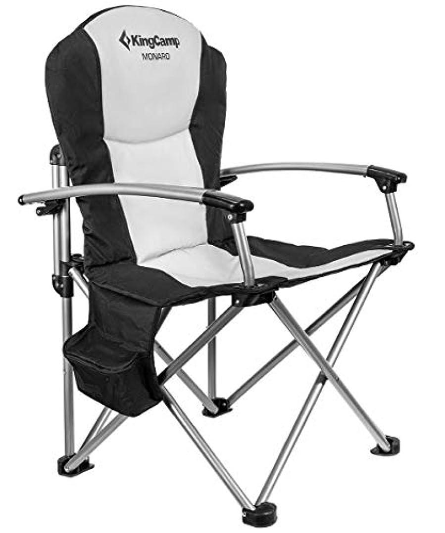 銀行キャンセル万一に備えてKingCamp アウトドアチェア 折りたたみ 椅子 収束型 イス 耐荷重160kg アームチェア 收纳袋付 KC3987