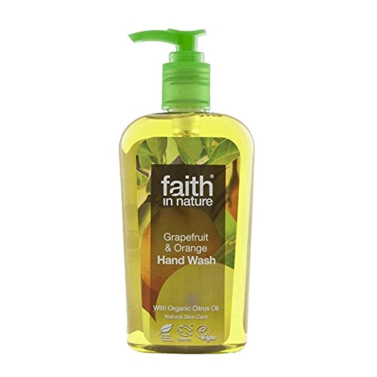 急勾配の不従順二次Faith In Nature Grapefruit & Orange Handwash 300ml (Pack of 6) - 自然グレープフルーツ&オレンジ手洗いの300ミリリットルの信仰 (x6) [並行輸入品]