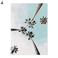 hamulekfae-キャンバス絵画植物建築文字絵アートポスターウォールオフィス装飾 - 4#30 * 40 cm喫茶店