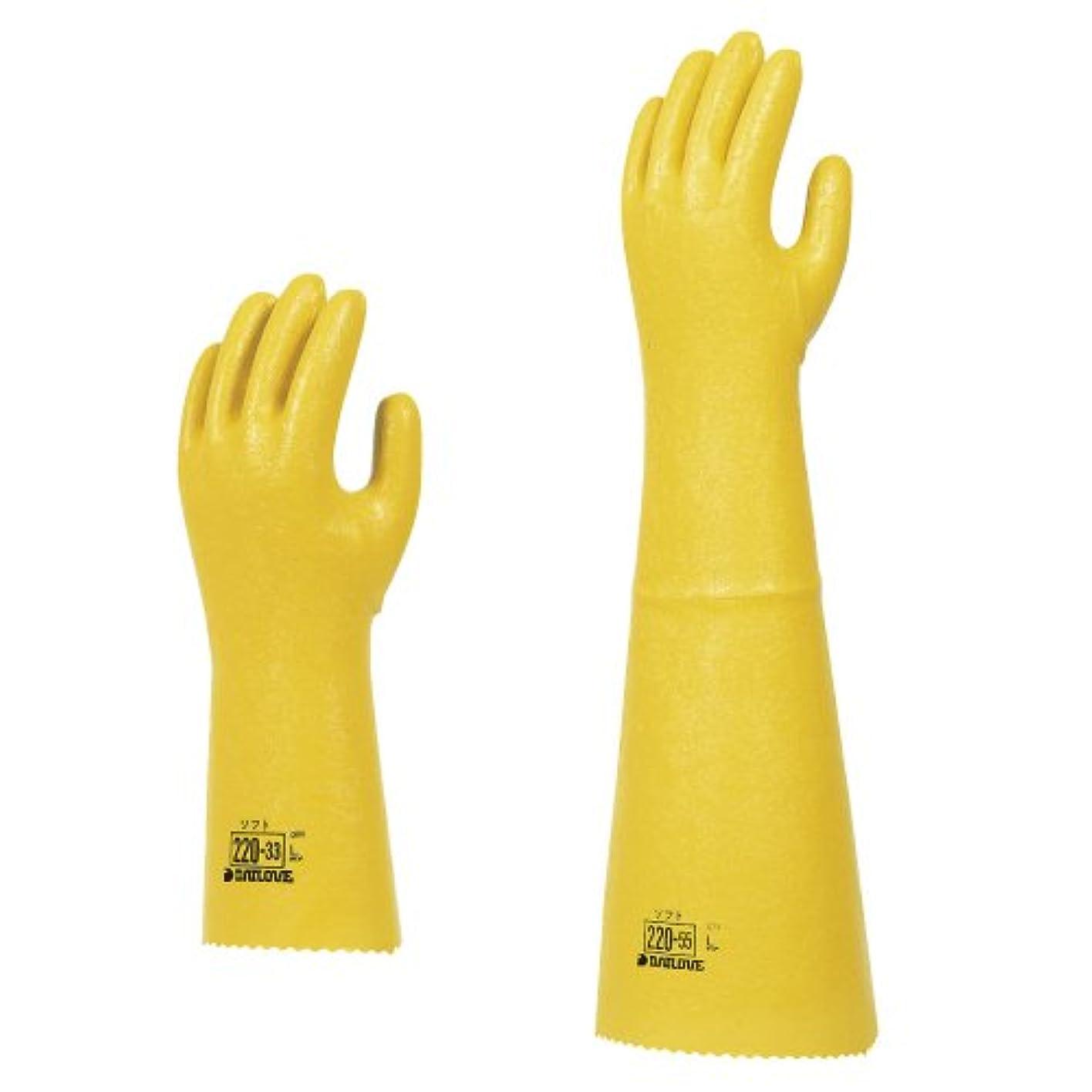 感謝する穏やかな数字ダイローブ手袋 220-33 04-188-01(L)????????????220-33L(23-2948-02)