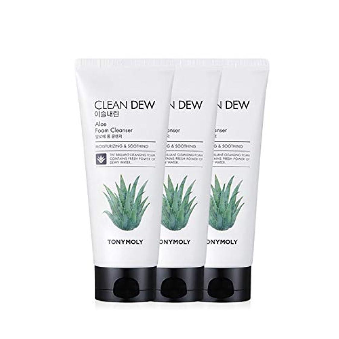 香ばしいステートメントスキャントニーモリークリーンデューアロエフォームクレンザー180mlx3本セット韓国コスメ、Tonymoly Clean Dew Aloe Foam Cleanser 180ml x 3ea Set Korean Cosmetics...