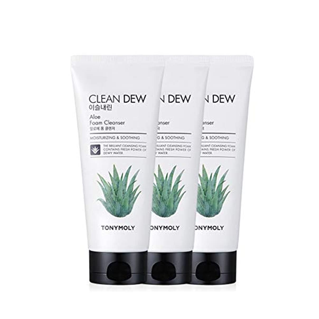 パイロット時間厳守補正トニーモリークリーンデューアロエフォームクレンザー180mlx3本セット韓国コスメ、Tonymoly Clean Dew Aloe Foam Cleanser 180ml x 3ea Set Korean Cosmetics...