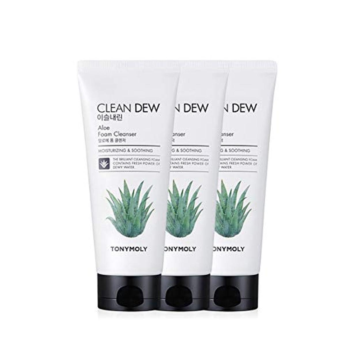 トニーモリークリーンデューアロエフォームクレンザー180mlx3本セット韓国コスメ、Tonymoly Clean Dew Aloe Foam Cleanser 180ml x 3ea Set Korean Cosmetics...