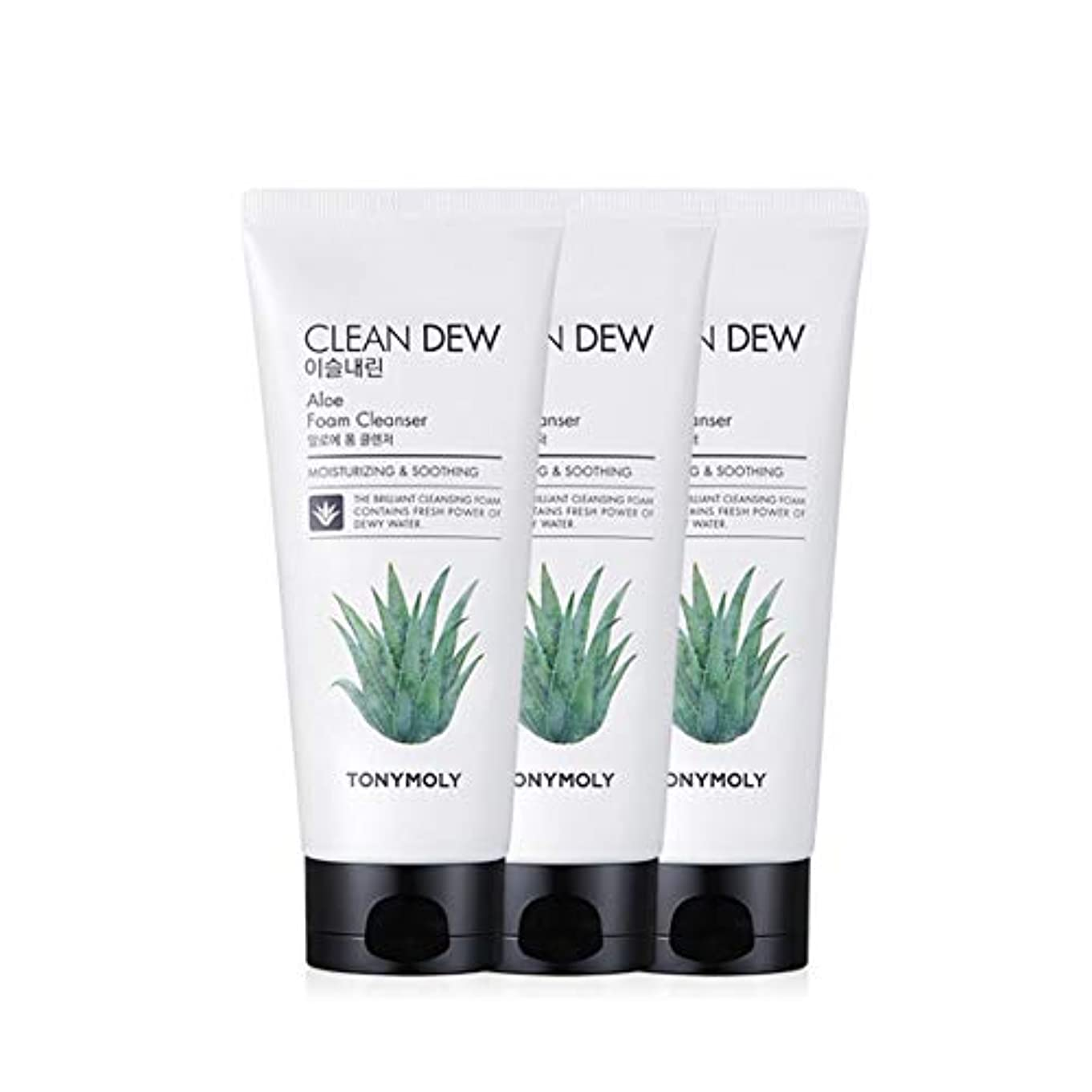 飲み込むキャスト生理トニーモリークリーンデューアロエフォームクレンザー180mlx3本セット韓国コスメ、Tonymoly Clean Dew Aloe Foam Cleanser 180ml x 3ea Set Korean Cosmetics...