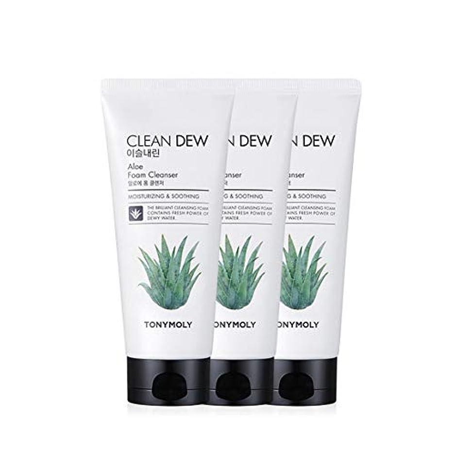 有効な無臭付けるトニーモリークリーンデューアロエフォームクレンザー180mlx3本セット韓国コスメ、Tonymoly Clean Dew Aloe Foam Cleanser 180ml x 3ea Set Korean Cosmetics...