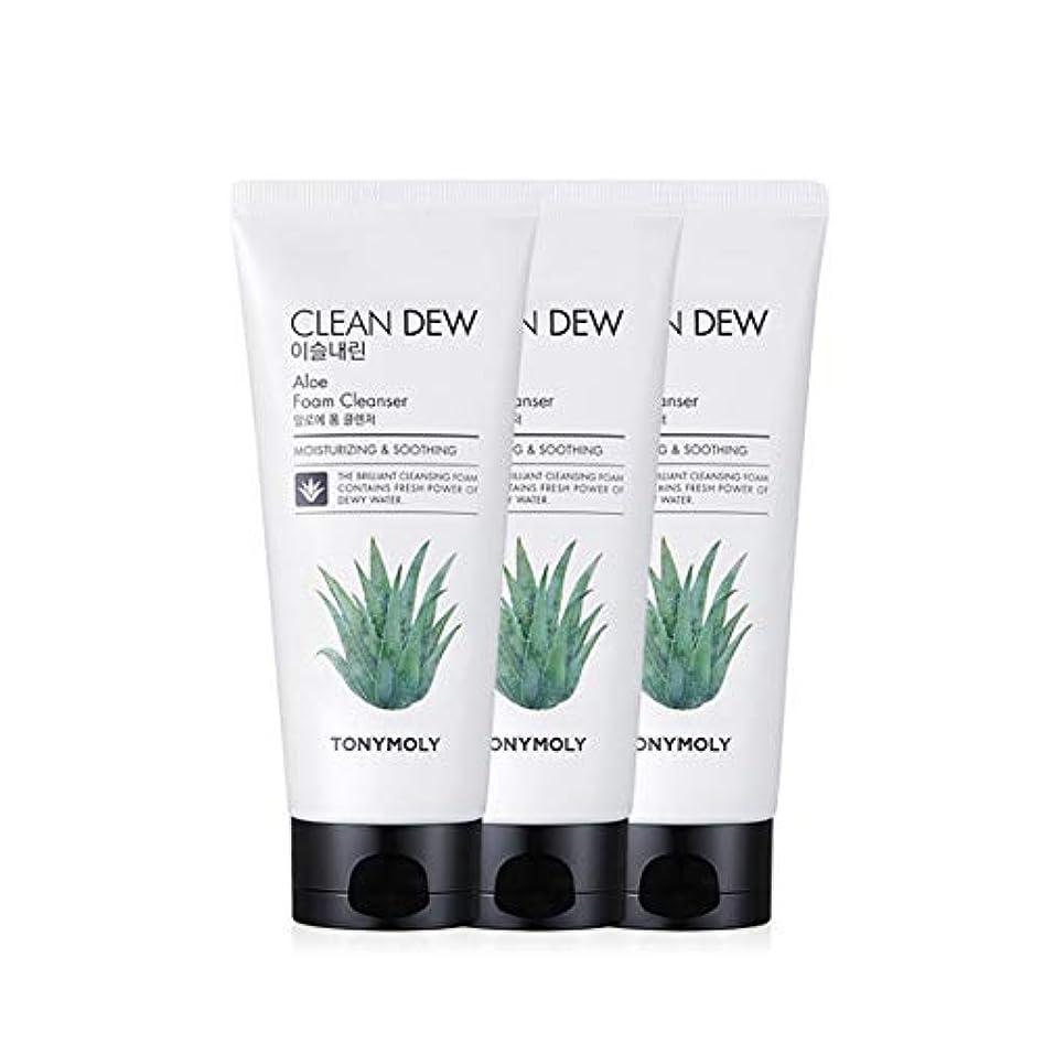 日曜日家庭教師レッスントニーモリークリーンデューアロエフォームクレンザー180mlx3本セット韓国コスメ、Tonymoly Clean Dew Aloe Foam Cleanser 180ml x 3ea Set Korean Cosmetics [並行輸入品]