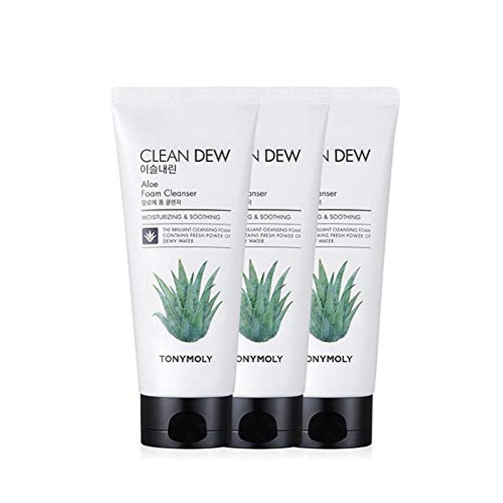 七時半ジャンピングジャック転用トニーモリークリーンデューアロエフォームクレンザー180mlx3本セット韓国コスメ、Tonymoly Clean Dew Aloe Foam Cleanser 180ml x 3ea Set Korean Cosmetics...