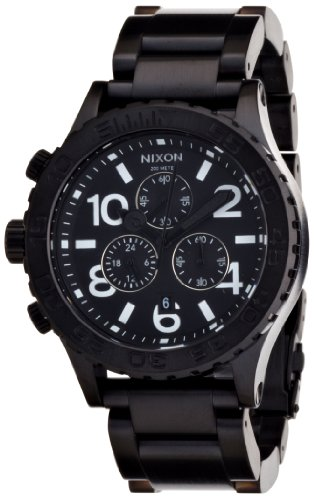 THE 42-20 CHRONO ALL BLACK NA037001-00 メンズ ニクソン