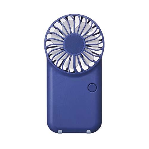 ドウシシャ 携帯扇風機 ポケットファン 薄型 2電源(USB 充電式) 風量3段階 ピエリア ネイビー FSU-52B NV
