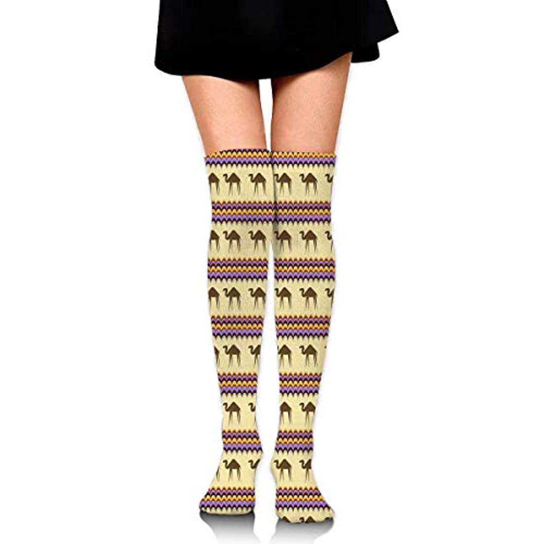 司法四回検査MKLOS 通気性 圧縮ソックス Breathable Thigh High Socks Over Exotic Psychedelic Print Compression High Tube Thigh Boot Stockings...