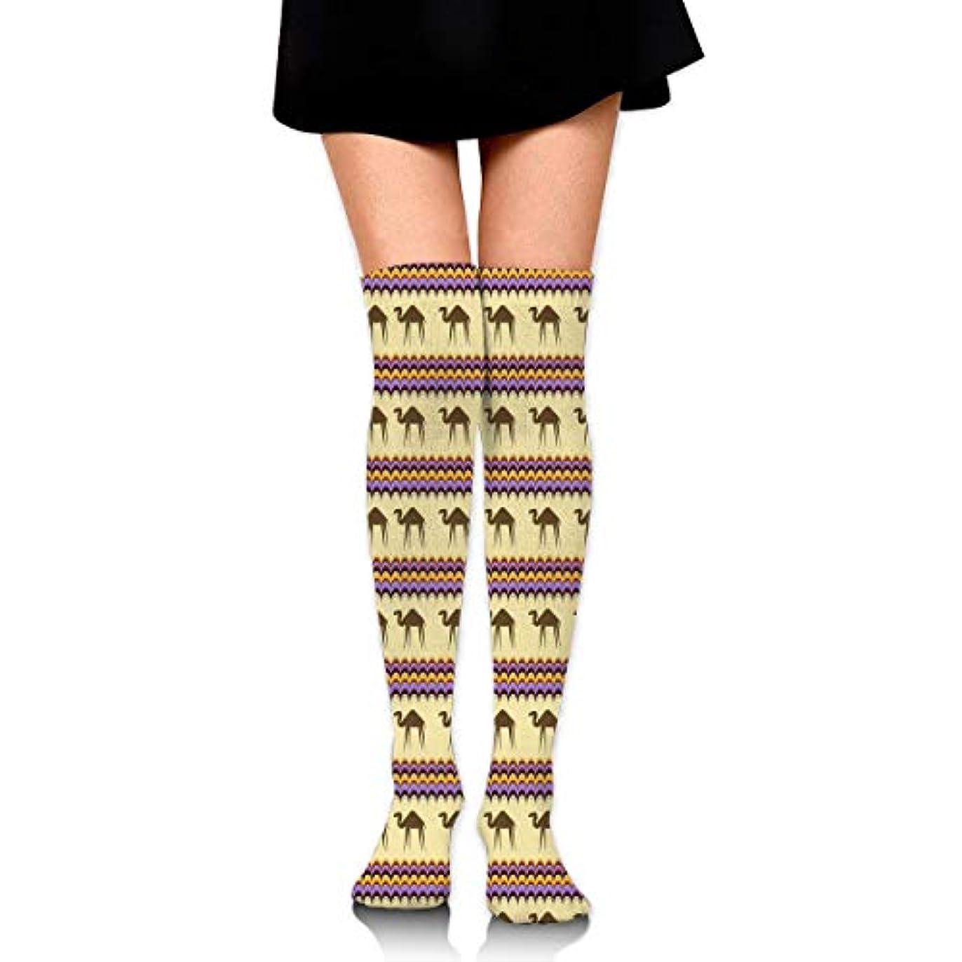 組み合わせボトルネック退屈MKLOS 通気性 圧縮ソックス Breathable Thigh High Socks Over Exotic Psychedelic Print Compression High Tube Thigh Boot Stockings...