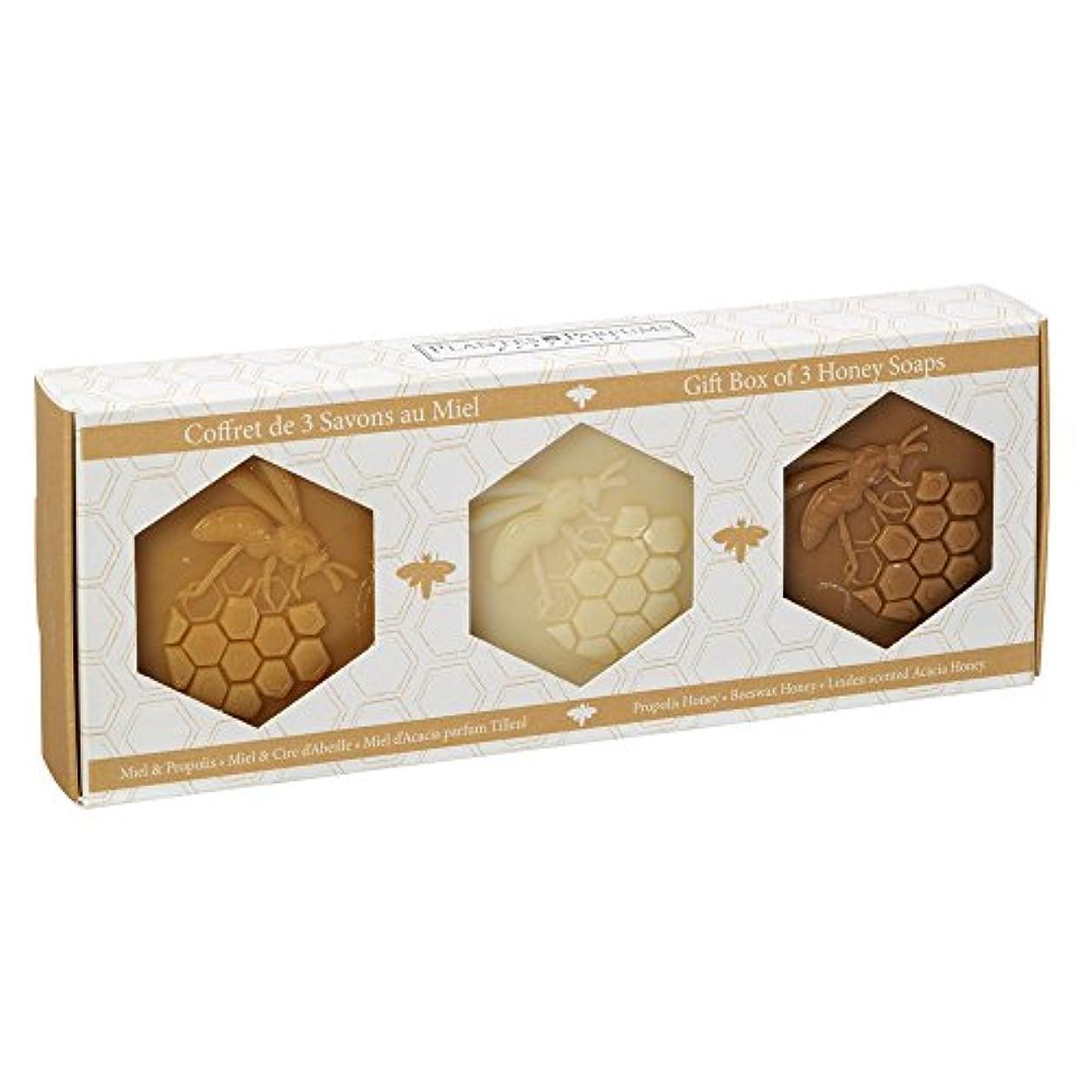 さびたキャンディーこのPlantes&Parfums [プランツ&パルファム] ハニーソープセット 3pcs