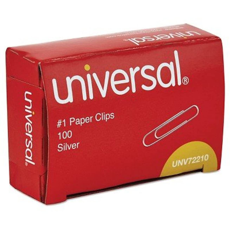 簡単に強制的本universal174、ペーパークリップ、1000 ctシルバー