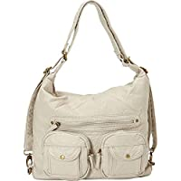 Convertible Purse - Both Backpack and Shoulder Bag in Soft Vegan Leather