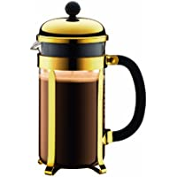 Bodum Chambord 1-Liter 8-Cup Coffee Maker, 34-Ounce, Gold by Bodum