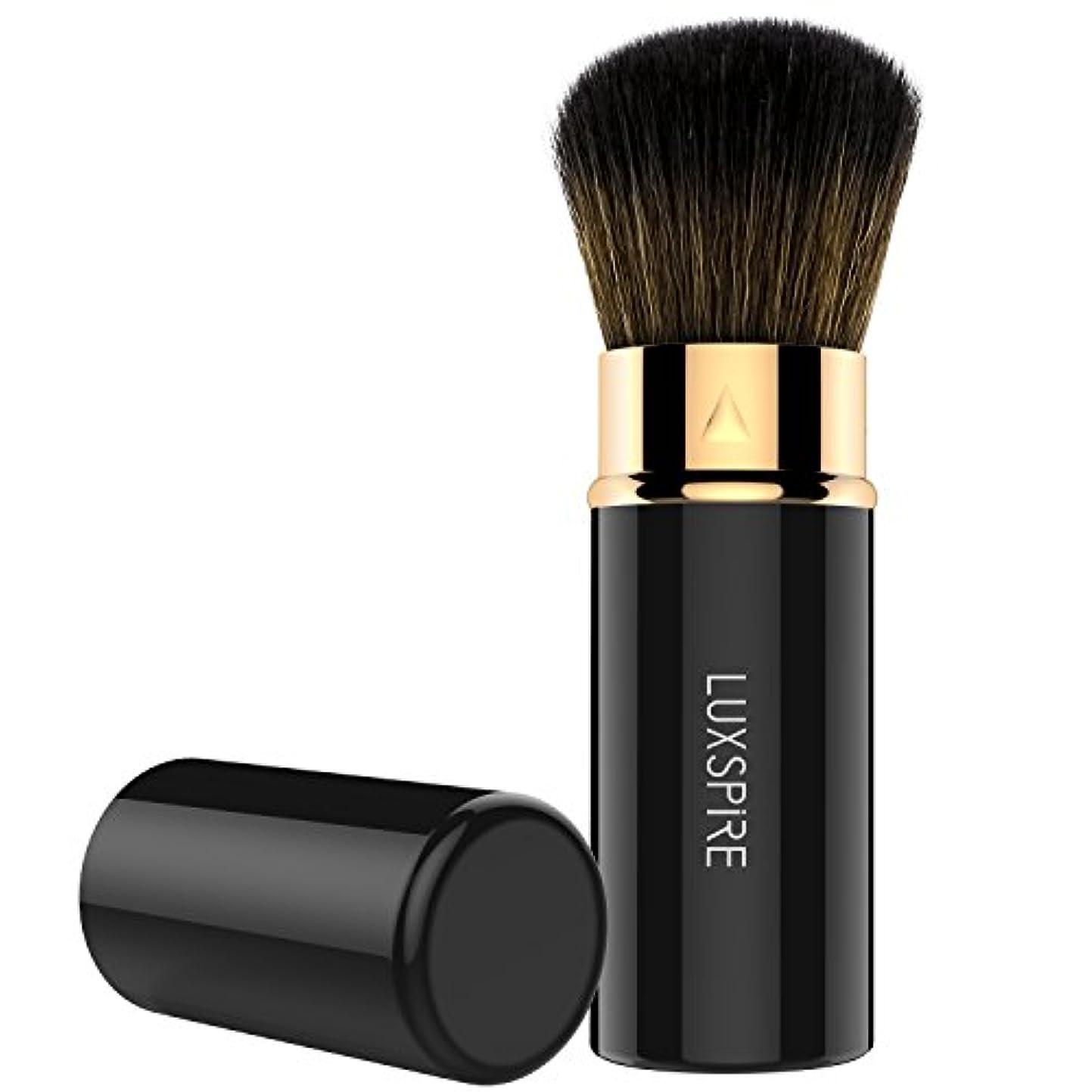 敬意を表して保持運搬ファンデーションブラシ - Luxspire メイクブラシ 伸縮可能 防塵でき 化粧筆 コスメブラシ 繊細な人工毛 毛質やわらかい 肌に優しい