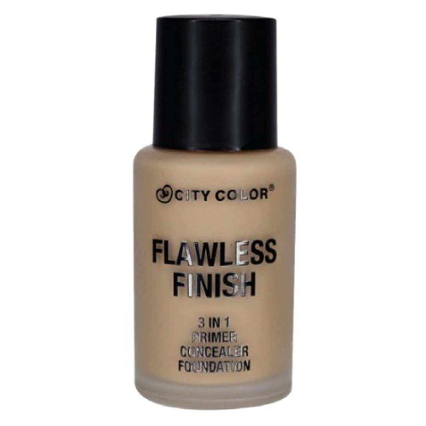 トマト説明するスマッシュCITY COLOR Flawless Finish 3 In 1 Primer, Concealer Foundation - Buff (並行輸入品)