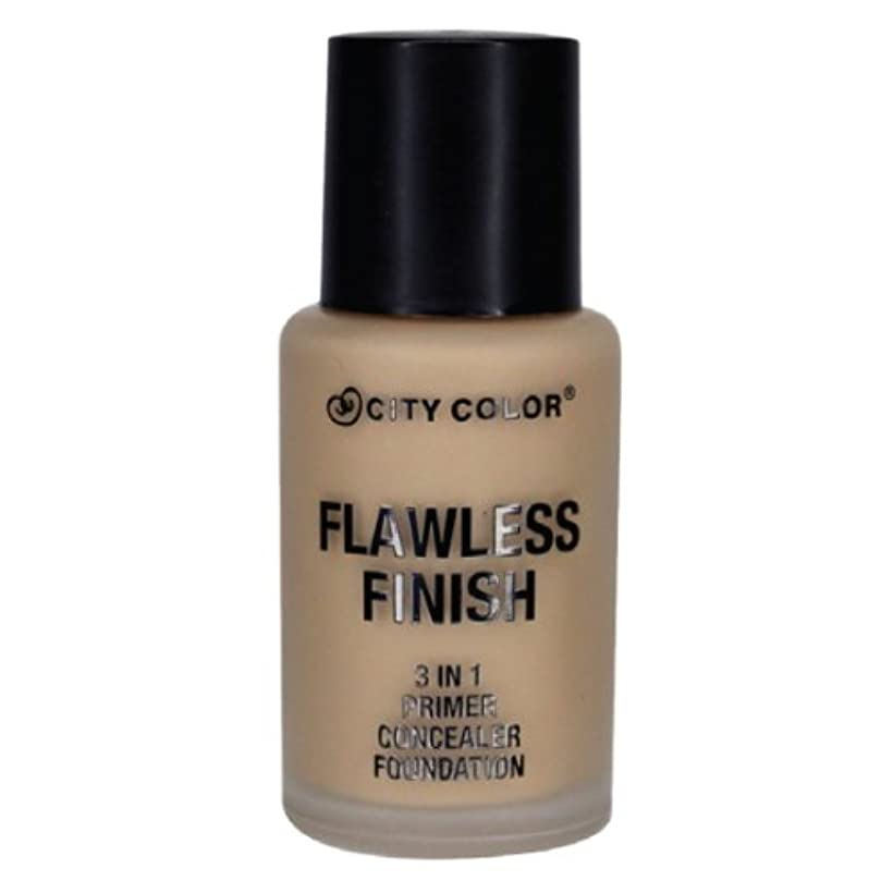 CITY COLOR Flawless Finish 3 In 1 Primer, Concealer Foundation - Buff (並行輸入品)