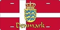 Denmark Flag Personalizedカスタムノベルティタグ車車オートオートバイモペットバイク自転車ライセンスプレート