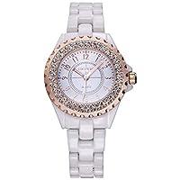 フェノコ美しい時計レディース模倣セラミックウォッチクリスタル輸入日本クォーツ時計プロモーション