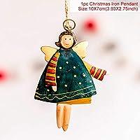クリスマスプレゼント hk サンタクロース雪だるまヘラジカ木製クリスマス装飾のための 2019 ツリー装飾木製工芸品クリスマスペンダント