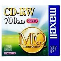 マクセル データ用CD-RW 700MB 4倍速 ブランドシルバー 5mmスリムケース CDRW80MQ.S1P 1枚 ×20セット