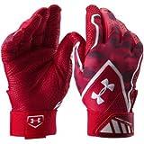 [在庫保有/海外限定 人気カラー] UNDER ARMOUR Yard Undeniable Baseball Batting Gloves (アンダーアーマー ヤード アンディナイアブル バッティング グローブ) (Red/Black/White(赤/黒/白), M(24cm-25cm)) [並行輸入品]