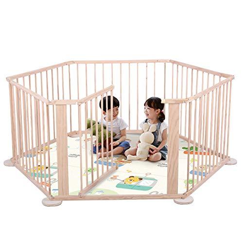 たためるベビーサークル 木製 プレイヤード赤ちゃん 8枚セット 180x180x70cm 長方形 正方形 L型