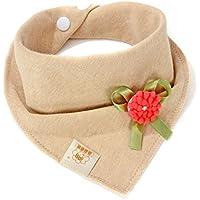 フラワー&レッドbaby-girl-boys-kids-cotton-triangle-head-scarf-bandana-bibs-saliva-towel-dribble