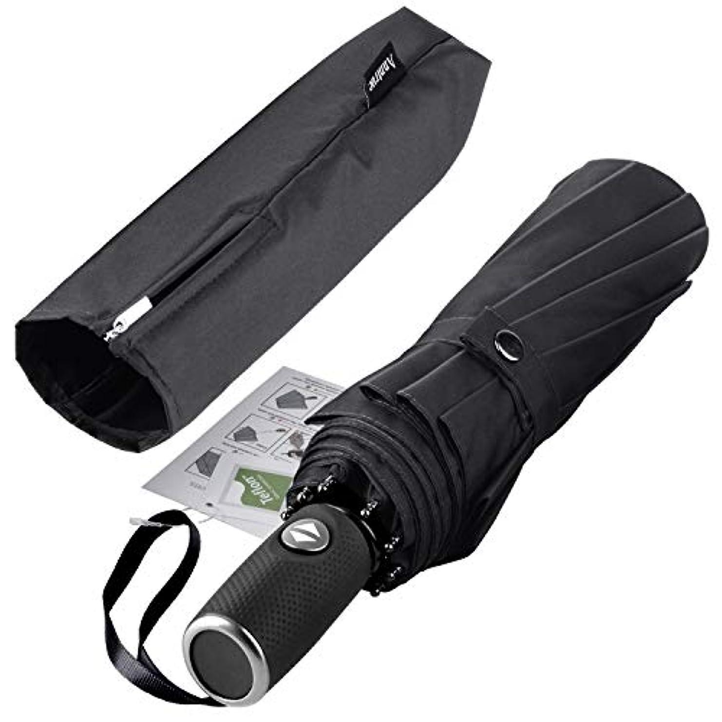 明らかにするリス説教するPTFEコーティングされた自動開口部を備えた防風旅行傘軽量傘