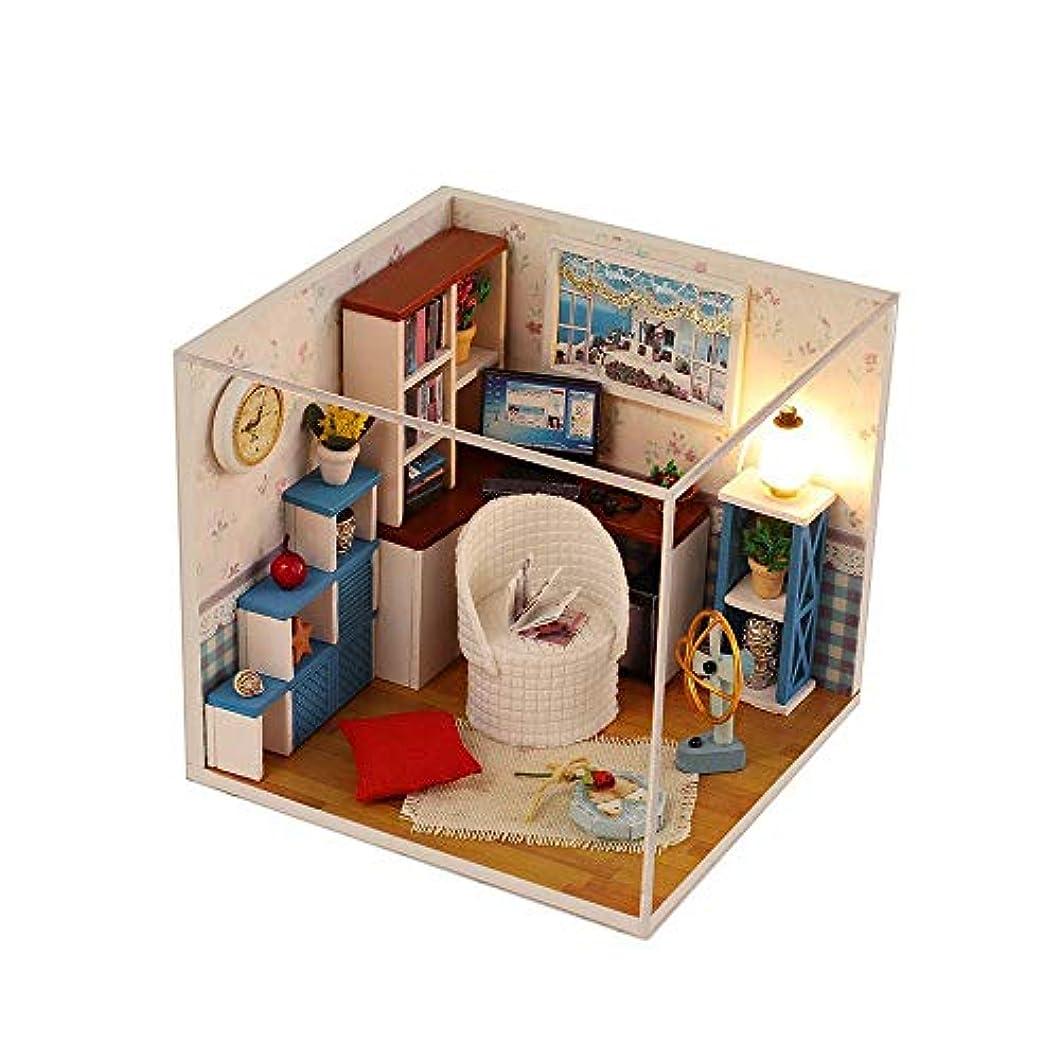 主婦ピアノ意気込みMakecny ミニDIYドールハウス暖かいテーマシリーズハウスルームデコレーションモデルキット (色 : 2)
