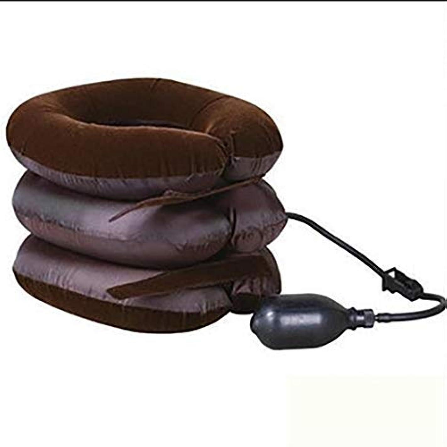 クリエイティブ飼い慣らす時代遅れ首牽引装置&首輪支柱、インフレータブル&調節可能な首サポート枕