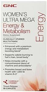 GNC Women's Ultra Mega-Energy & Metabolism 90 Caplets by GNC [並行輸入品]