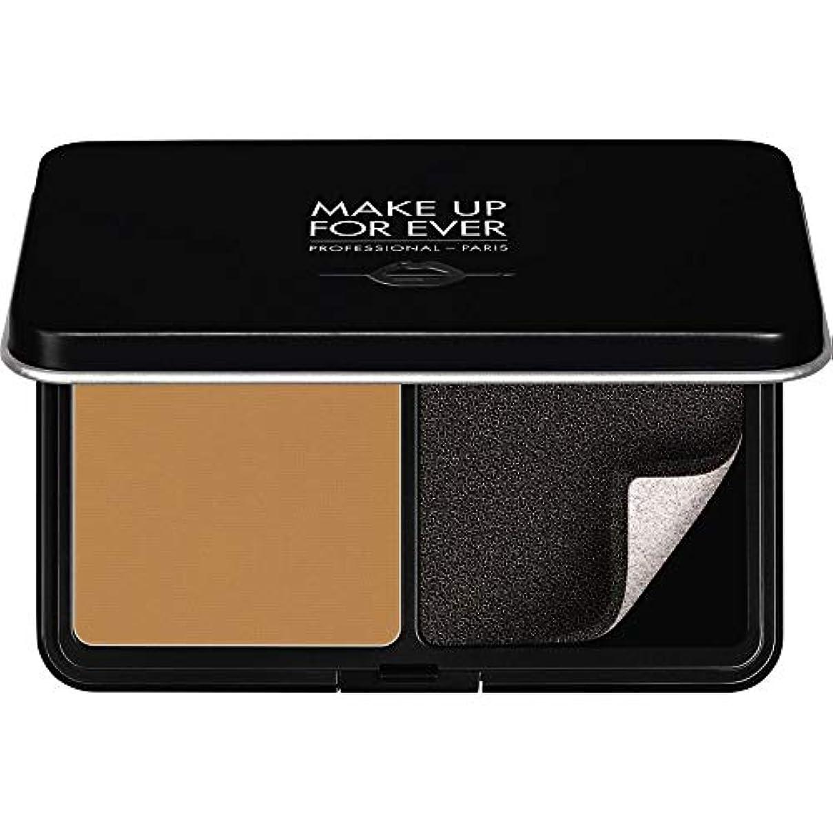ファイナンス気絶させるでも[MAKE UP FOR EVER ] パウダーファンデーション11GののY455をぼかし、これまでマットベルベットの肌を補う - プラリネ - MAKE UP FOR EVER Matte Velvet Skin Blurring Powder Foundation 11g Y455 - Praline [並行輸入品]