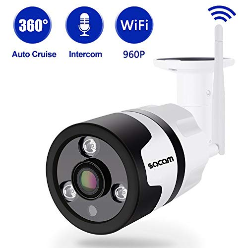 HD 960 P屋内カメラ、ホームセキュリティ制御システム、360度パノラマフィッシュアイHDセキュリティカメラ、WiFi携帯電話リモコン、赤外線暗視機能、IP 6防水および耐候性