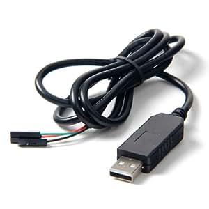 Raspberry Pi ラズベリーパイ用の USB-TTLシリアルコンソールのUSB変換COMケーブルモジュールのケーブル