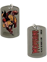 Marvel Comics WolverineアクションX - Men Ready to Fight犬タグネックレス5015