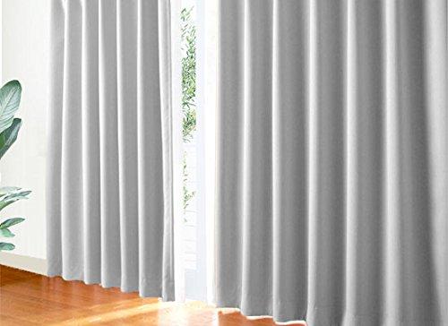 Re:HOME PARIS 一級遮光・防炎カーテン 片開き(1枚入)◆OD:パリスグレー(DP209) 幅:90cmX1枚入 丈:119cm オーダー丈100~250cm対応可能 幅90cm 遮光 断熱 洗濯可 防炎加工