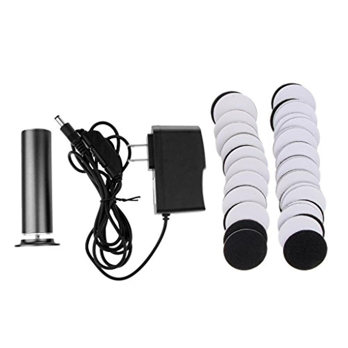 アメリカ特徴づけるうめきKesoto カルスリムーバー 電気リムーバー ペディキュア 交換用 サンドペーパーディスク 2色選べ - ブラック
